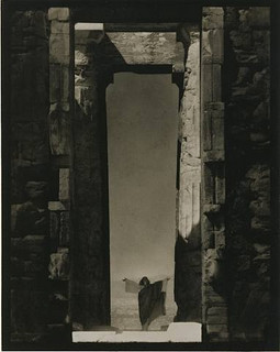 Edward Steichen's amazing 1923 portrait of dance icon Isadora Duncan beneath a massive arch of the Parthenon in Greece.
