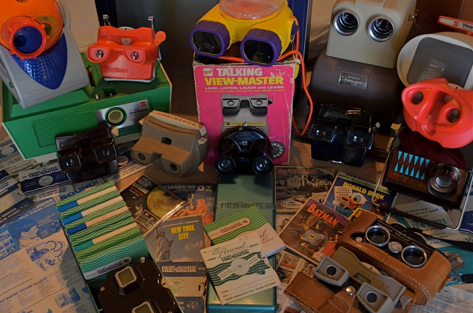 Class Picture: A small sampling of the massive product line from over sixty-four years of View-Master. 1/80 sec., f/5.6, ISO 640, 24mm.