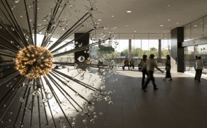 The Last Scattering Surface as it appears in the lobby of the Phoenix Art Museum.