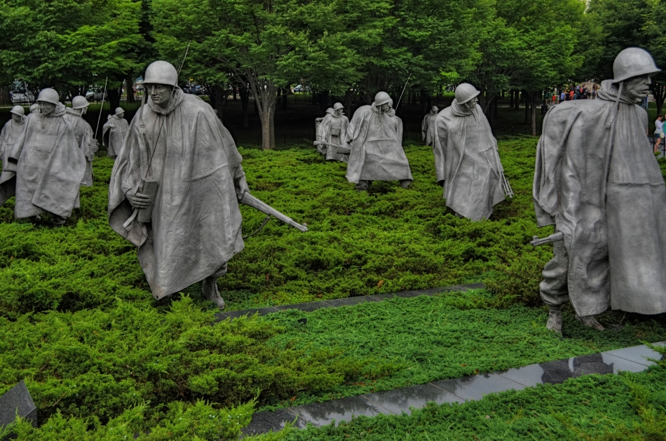 On patrol: The Korean War Memorial on Washington's National Mall. 1/250 sec., f/5.6, ISO 100, 32mm.