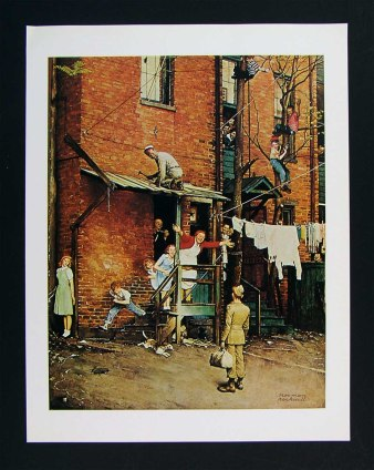 As staged as a Broadway show, Norman Rockwell's idealized neighborhoods are still alluring in their appeal.