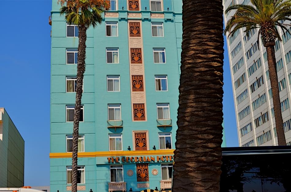 Georgia Hotel, Santa Monica, CA. 1/60 sec., f/5.6, ISO 100, 35mm.