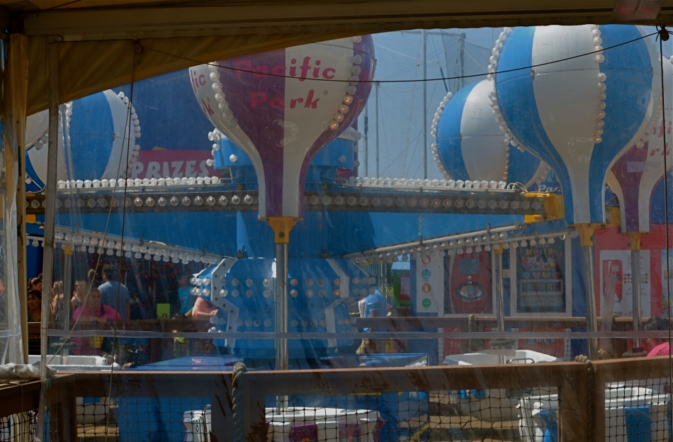 All the fun of the fair, just seen from backstage.