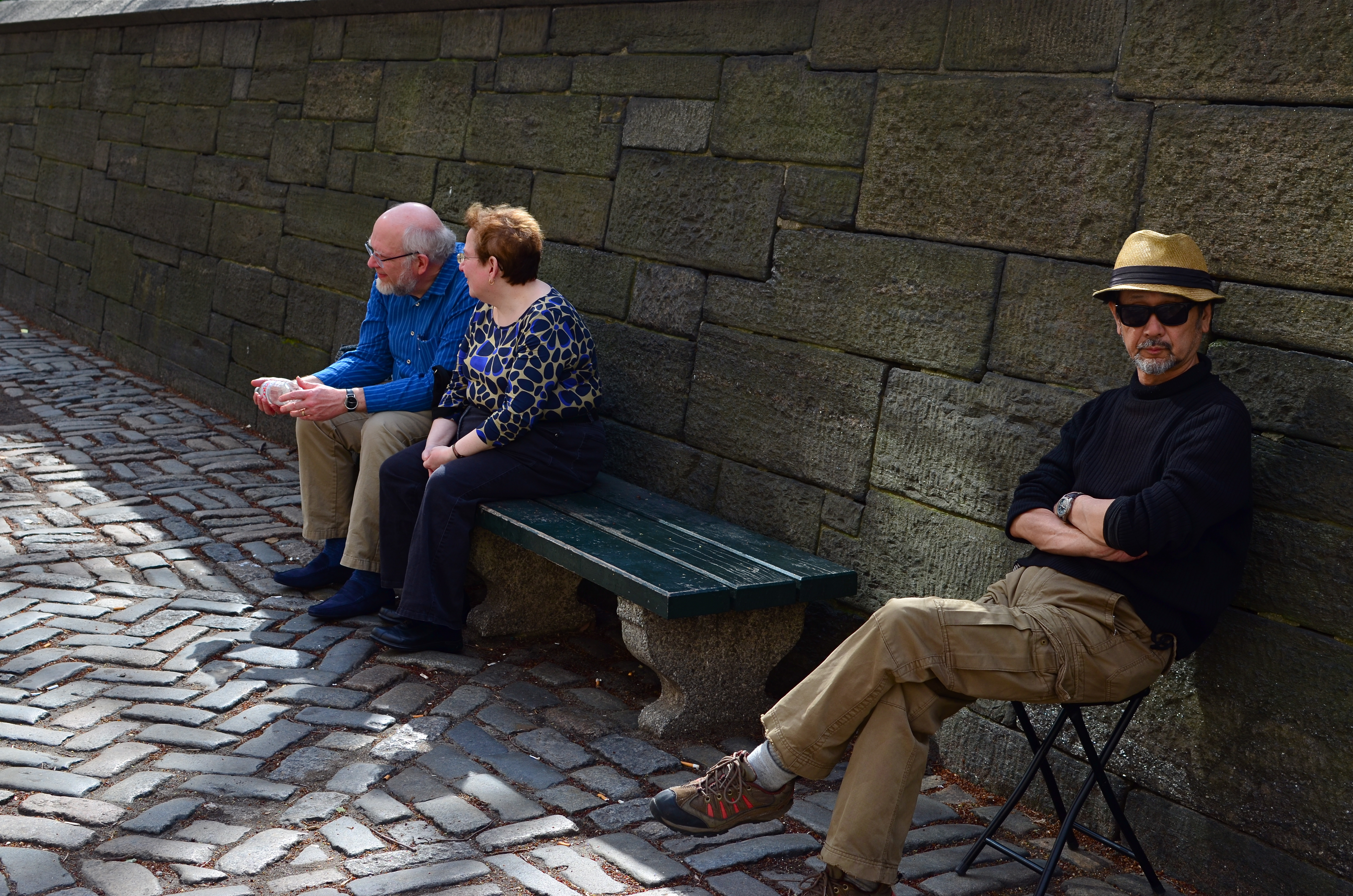 Even if people in the picture are not drunk or dying, it's still street photography.