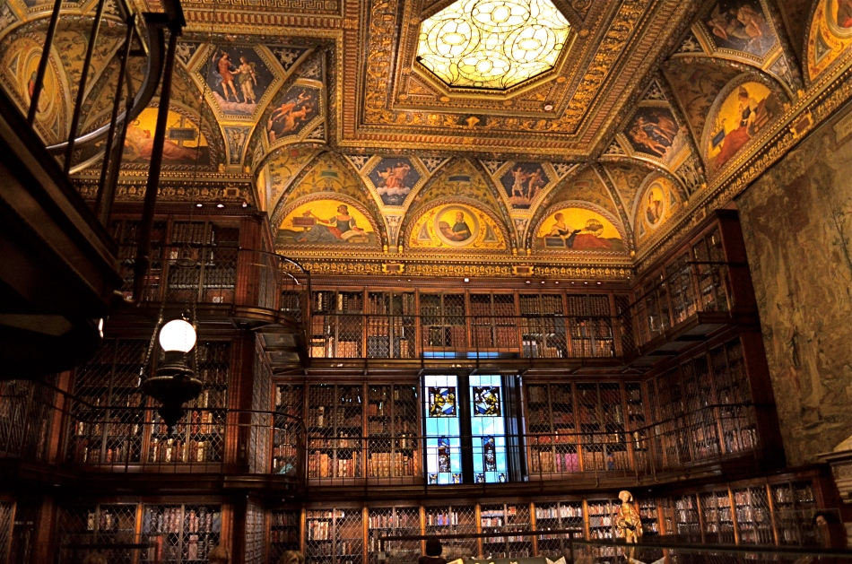 A little light reading for your friendly neighborhood billionaire. Inside the Morgan Library in NYC.