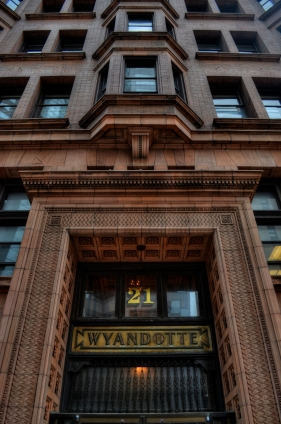 The Wyandotte Building (1897), Columbus, Ohio's first true skyscaper, seen here in a three-exposure HDR composite.