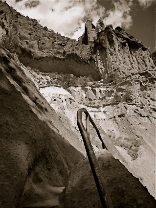 Bandolier National Monument, New Mexico. Nearly ten years and rfour cameras ago. Did the shot achieve everything I was seeking? Hardly. Still, it emerges now as a qualified success rather than an outright dud.