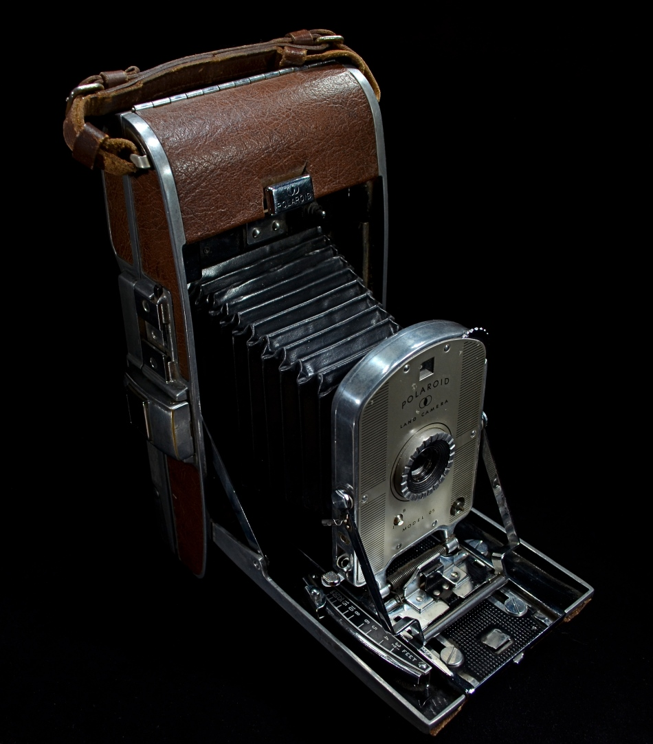 The first of its kind: A model 95 Polaroid Land Camera, circa 1948. Light-painted in darkness for a 15 second exposure at f/5.6, ISO 100, 18mm.