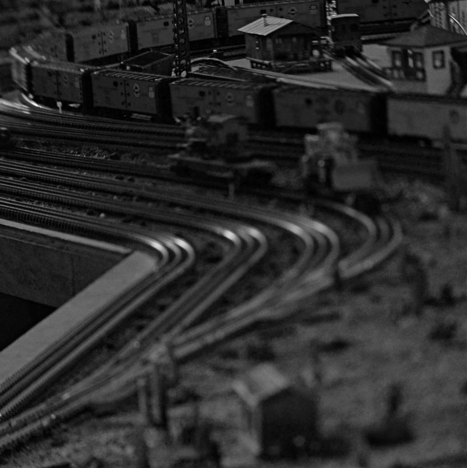 Midnight In The Switch Yard, 2013. Shot with a Lensbaby tilt-shift attachment (don't call it a lens).