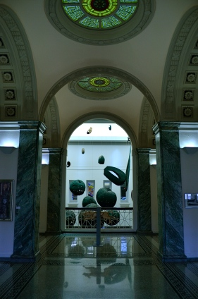 Inside Columbus, Ohio's Carnegie Library.