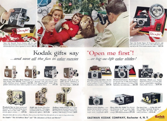 Kodak taught us that real holiday memories began after their cameras were unwrapped.
