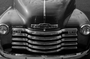 Up In Your Grille, 2015. A mere b&w conversion from color would have flattened out many of this image's tones.