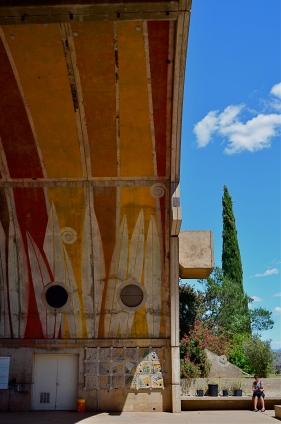 "An enormous public amphitheatre arch at Arcosanti, a crumbling ""urban laborotory"" near Phoenix, Arizona."