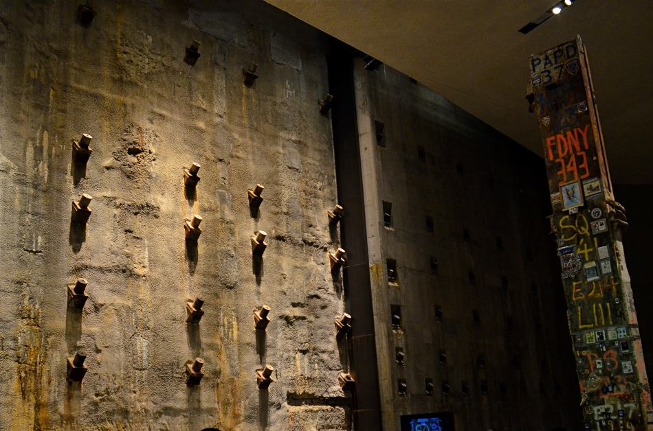 Slurry Wall And Hero's Girder, 2015. The 9/11 Memorial Museum in New York is a cathedral of grim silence.