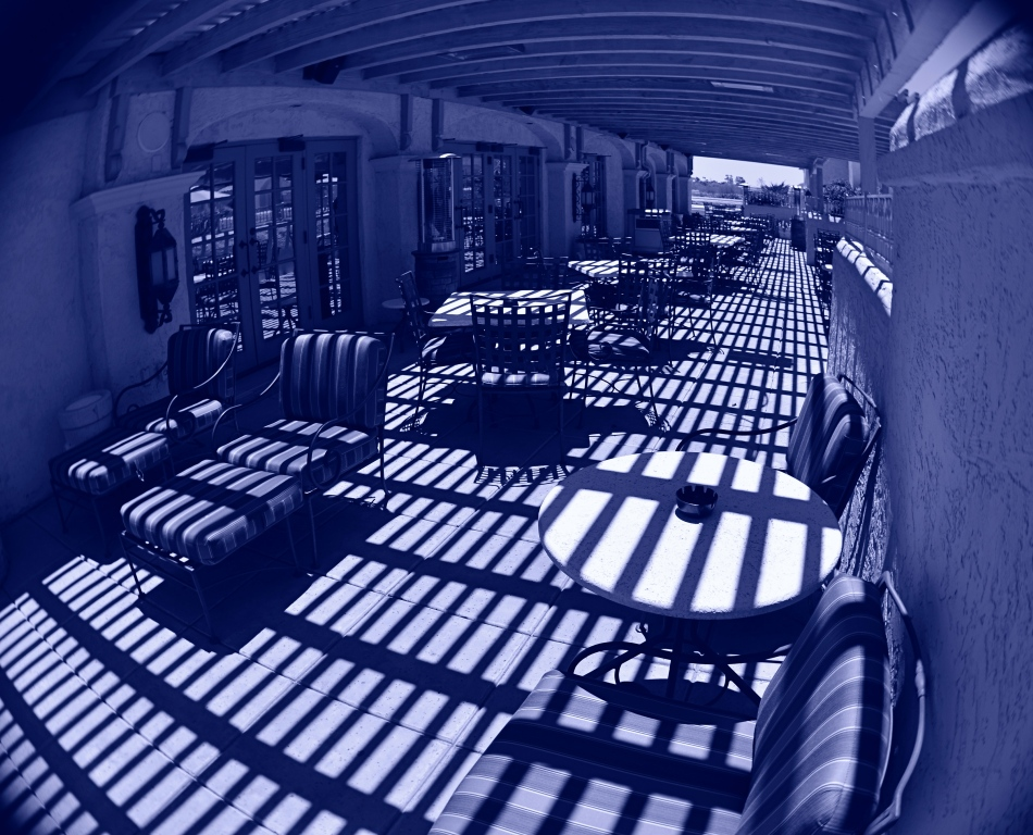 Cyan Veranda (2016). Controlling the fisheye effect with composition and angle.