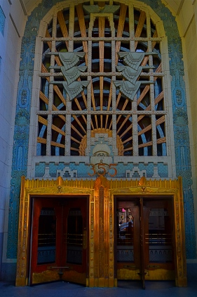 Vancouver's amazing Marine Building, a Deco freak's feast, in early morning (flat) light.