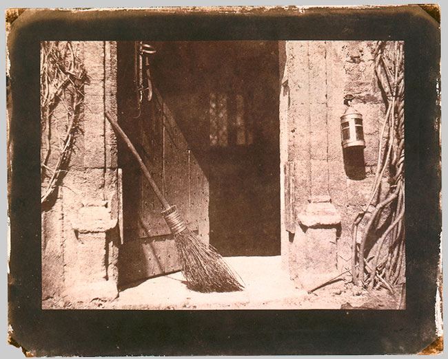 "The Open Door (1842) An example of a print from Talbot's ""salted paper"" negative process."
