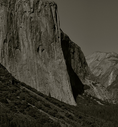 This ( ) view of El Capitan in the Yosemite Valley has been annually tweaked with various editing tools since being taken in ( )